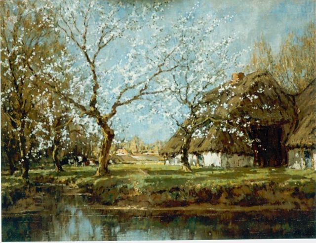 Arnold Marc Gorter | A blossoming orchard, oil on canvas, 67.3 x 84.8 cm, signed l.r.