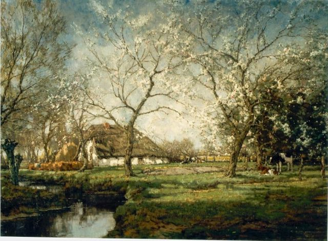 Arnold Marc Gorter | An orchard, oil on canvas, 96.8 x 131.8 cm, signed l.r.