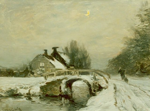 Louis Apol | A snow-covered landscape, oil on canvas, 30.0 x 40.0 cm, signed l.r.
