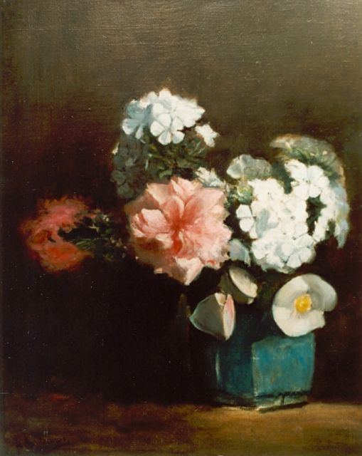 Floris Arntzenius | Flowers in a ginger jar, oil on canvas, 43.2 x 34.6 cm, signed l.l.