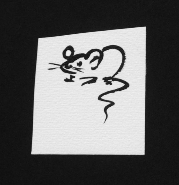 Prinses Beatrix van Oranje Nassau | Mouse, pencil and black ink on paper, 6.6 x 5.7 cm, executed August 1960