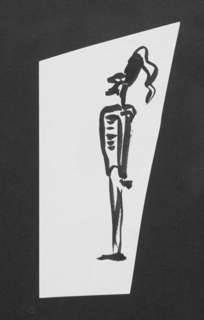Prinses Beatrix van Oranje Nassau | Guard, pencil and black ink on paper, 12.3 x 6.0 cm, executed August 1960