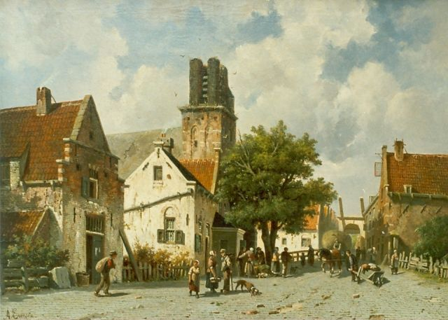 Adrianus Eversen | View of Ransdorp, oil on canvas, 62.3 x 96.0 cm, signed l.l.