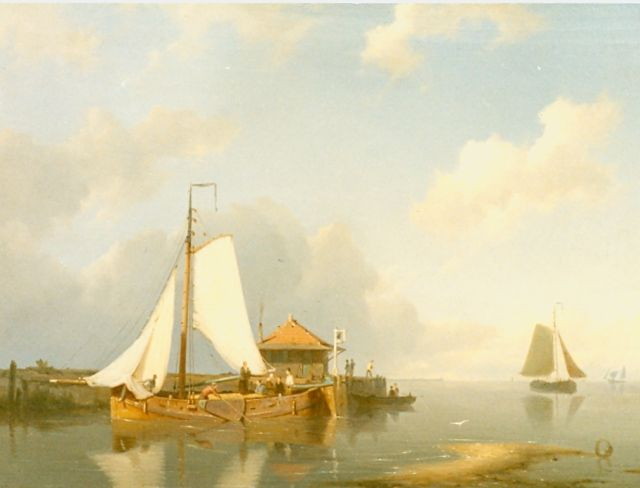 Pieter Cornelis Dommershuijzen | Sailing boats in a calm, oil on panel, 27.5 x 38.0 cm, signed l.l. and dated '79