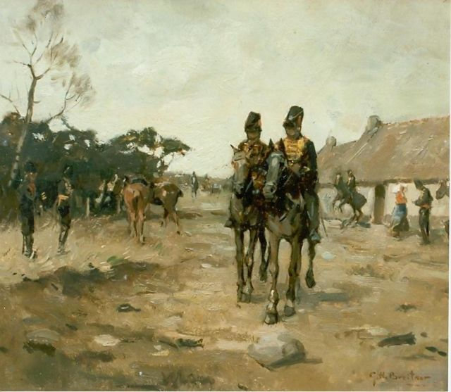 George Hendrik Breitner | Artillery, oil on canvas, signed l.r.