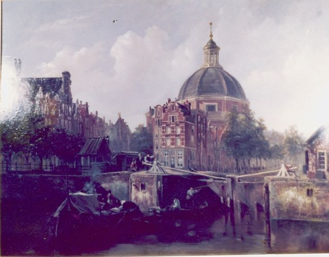 Johannes Bosboom | A view of Amsterdam, with the Koepelkerk, oil on panel