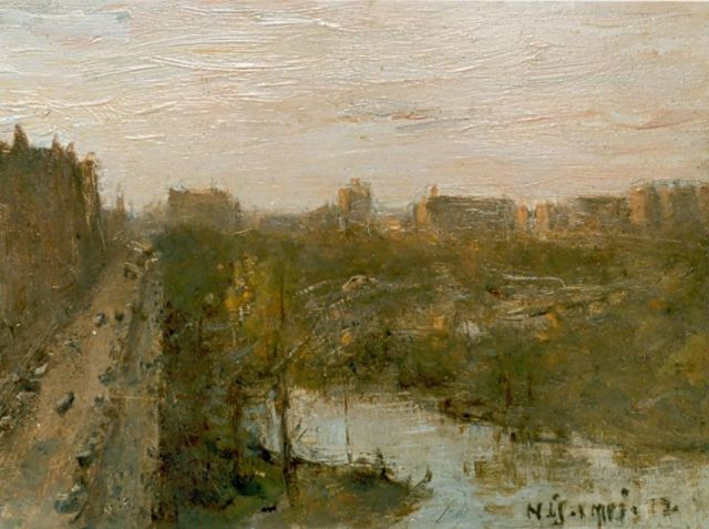Bernard Blommers | New York 'Central Park', oil on panel, 23.0 x 30.6 cm, signed l.r. and dated 1-5-1912