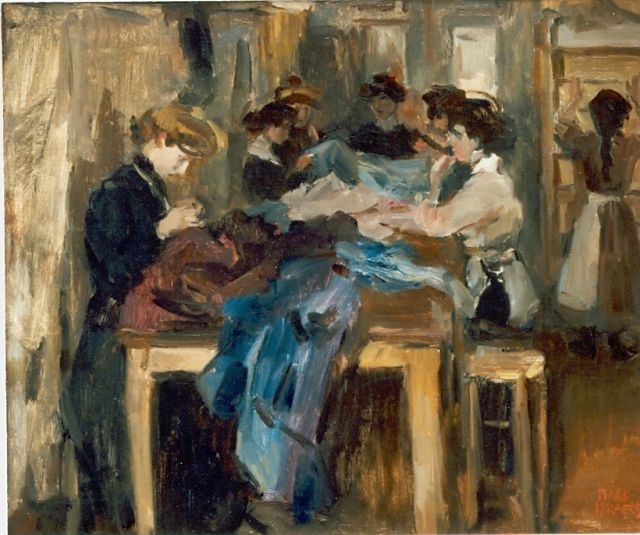 Israels I.L.  | Studio Paquin, Paris, oil on canvas, 49.0 x 60.0 cm, signed l.r. and around 1905