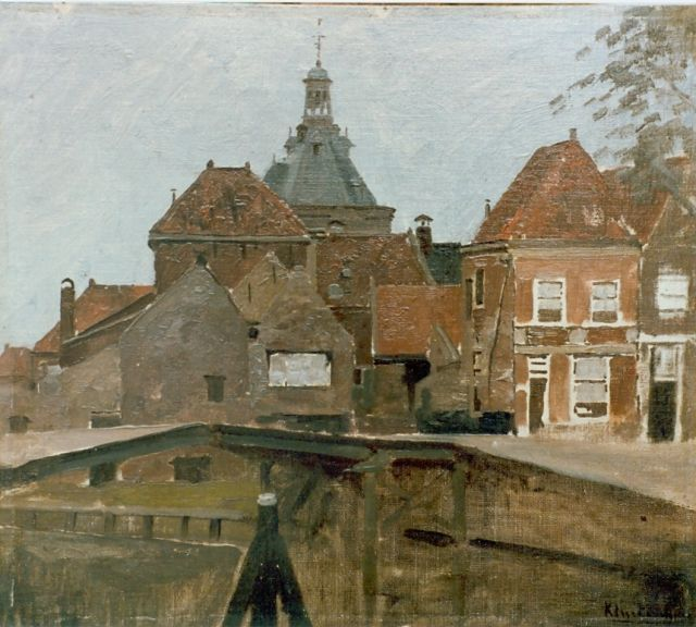 Johannes Christiaan Karel Klinkenberg | Townscape, oil on canvas laid down on panel, 32.4 x 36.7 cm, signed l.r.