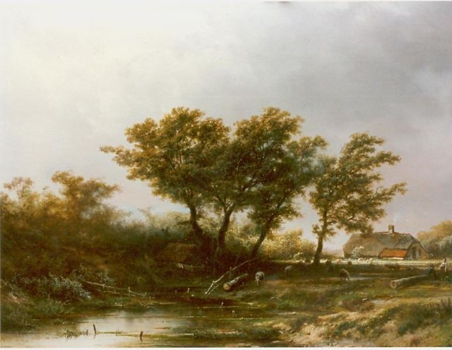 Pieter Kluyver | A river landscape, oil on panel, 40.2 x 54.0 cm, signed l.r.