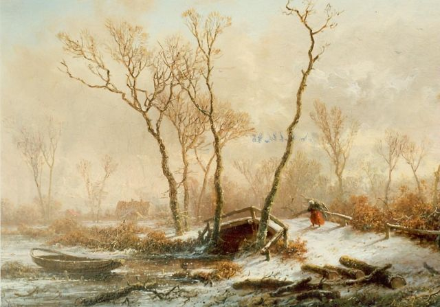 Pieter Kluyver | A winter landscape, oil on panel, 19.6 x 28.5 cm, signed l.l.