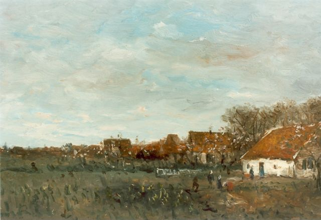 Hendrik Willem Mesdag | A vegetable garden, oil on canvas laid down on panel, 22.0 x 36.0 cm