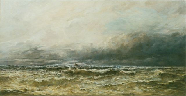 Hendrik Willem Mesdag | Sea view, North Sea, oil on canvas, 90.0 x 170.0 cm, signed l.r.