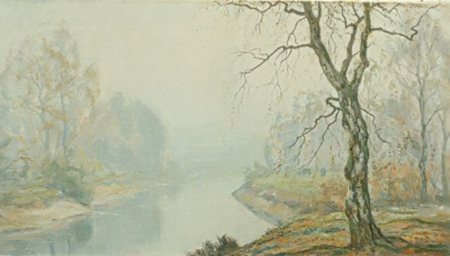 Johan Meijer | Autumn morning, oil on canvas, 44.3 x 84.0 cm, signed l.r.