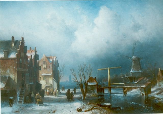 Charles Leickert | A winter landscape, oil on canvas, 45.2 x 65.5 cm, signed l.r.