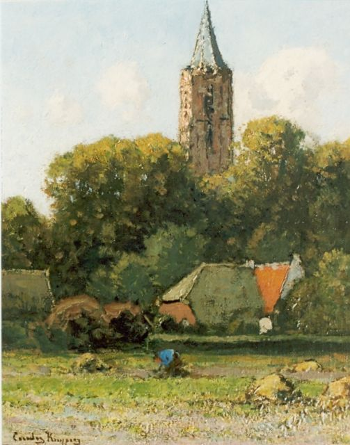 Cornelis Kuijpers | A view of Soest, oil on panel, 31.0 x 26.5 cm, signed l.l.