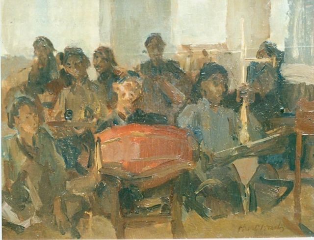 Israels I.L.  | Orchestra from Bali, oil on canvas, 27.5 x 35.5 cm, signed l.r.