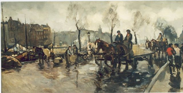 Cor Noltee | Daily activities, oil on canvas, signed l.r.