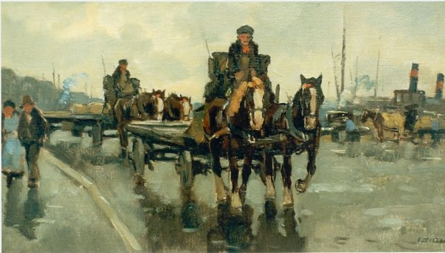 Cor Noltee | A horse-drawn cart, oil on canvas, signed l.r.