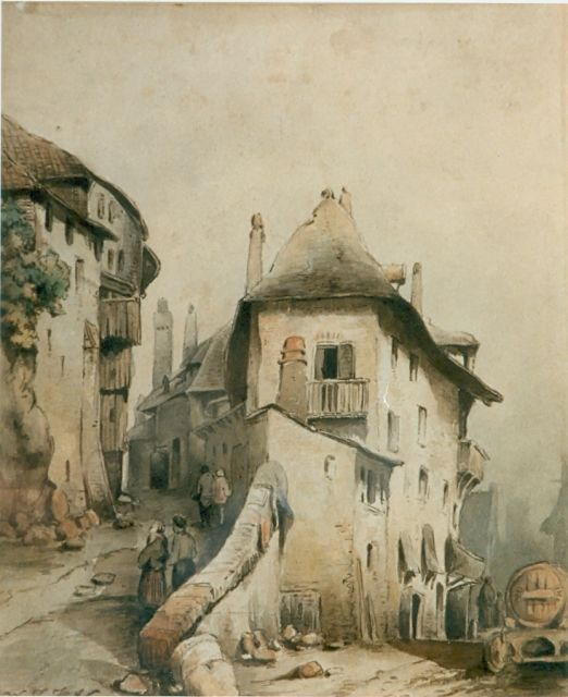 Wijnand Nuijen | Townscape, watercolour on paper, signed l.l.