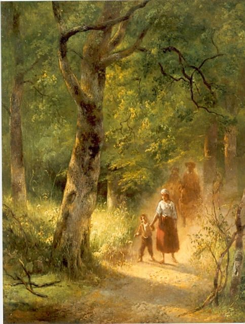 Wijnand Nuijen | Travellers on a path, oil on canvas