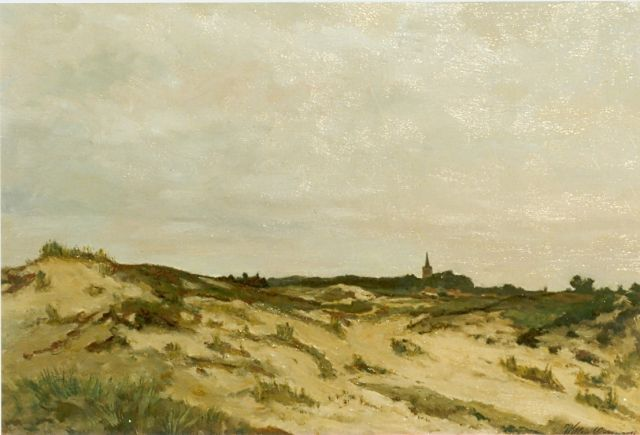 Willem Oppenoorth | Heath landscape, Ede, oil on canvas, 40.4 x 60.0 cm, signed l.r.