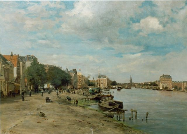 Willem Oppenoorth | A view of Amsterdam, oil on canvas, 70.8 x 101.0 cm, signed l.l.