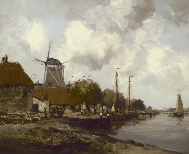 Willem George Frederik Jansen | Village along the 'Zuiderzee', oil on canvas, 41.0 x 51.0 cm, signed l.l.