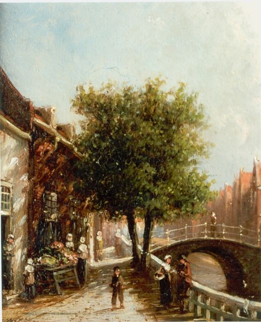 Petrus Gerardus Vertin | Enkhuizen in summer, oil on panel, 14.0 x 11.8 cm, signed l.l.