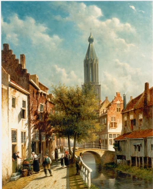 Petrus Gerardus Vertin | Townscape, oil on canvas, 61.0 x 49.0 cm, signed l.l.