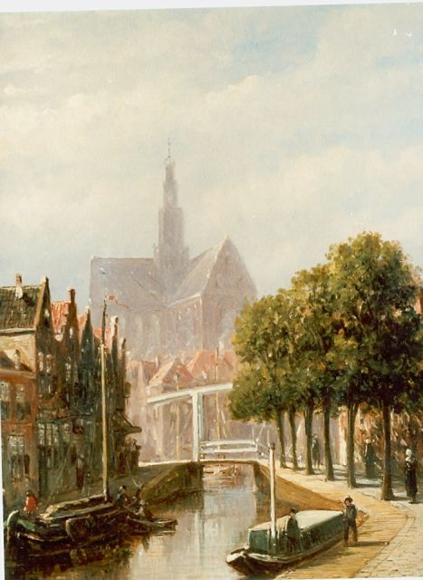 Petrus Gerardus Vertin | Haarlem in summer, oil on panel, 25.0 x 21.0 cm, signed l.r.