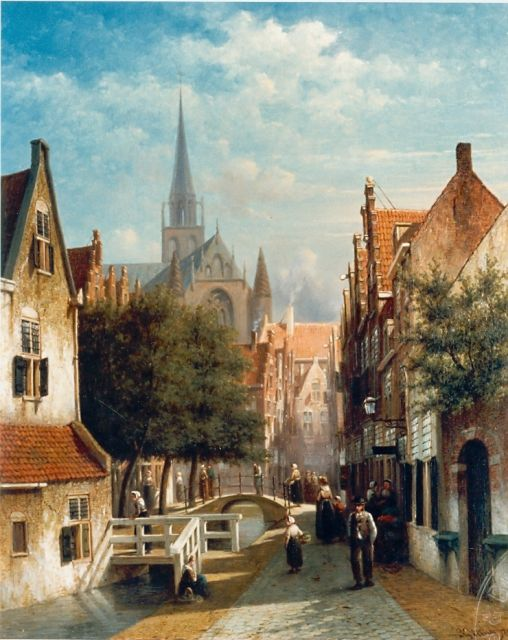 Petrus Gerardus Vertin | Townscape, oil on canvas, 61.0 x 49.0 cm, signed l.r. and dated '72