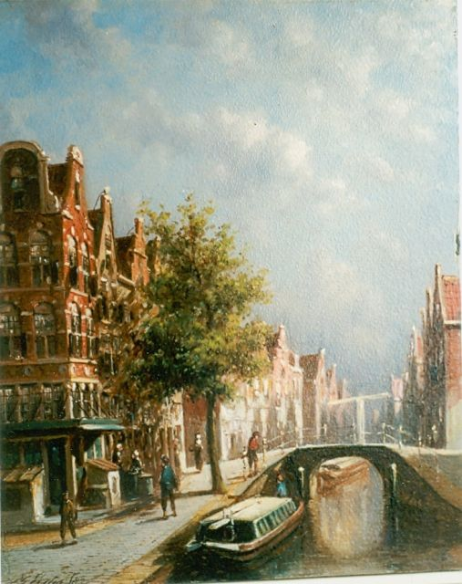 Petrus Gerardus Vertin | A town view, oil on panel, 23.0 x 19.5 cm, signed l.l. and dated '82