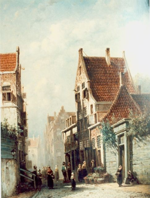 Petrus Gerardus Vertin | Daily activities in a Dutch village, oil on panel, 41.2 x 31.5 cm, signed l.r. and dated '69