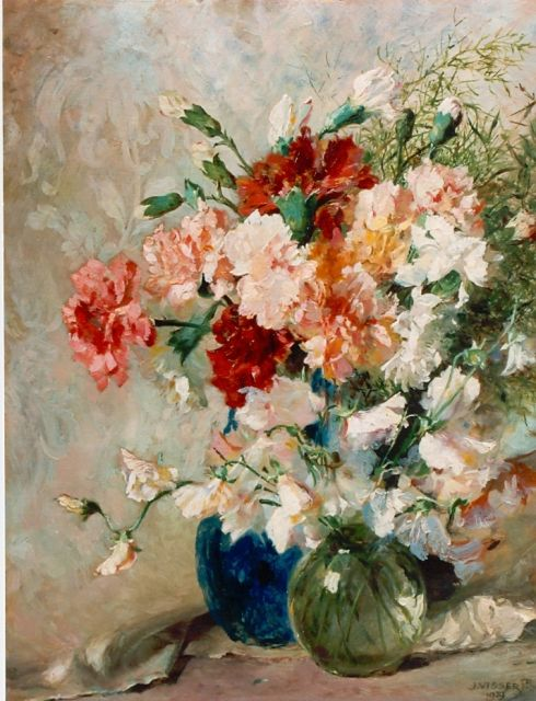 Jan Visser jr. | A colourful bouquet, oil on board, 50.3 x 40.1 cm, signed l.r. and dated 1929
