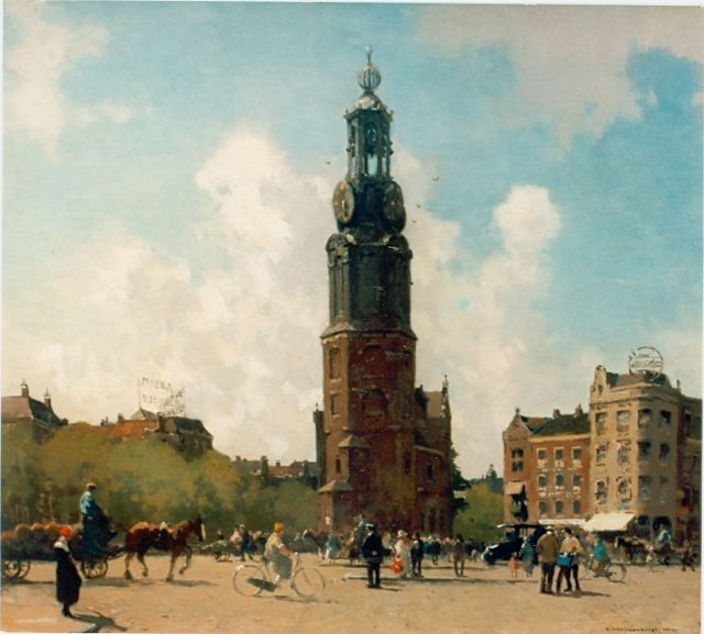 Cornelis Vreedenburgh | The 'Munttoren', Amsterdam, oil on canvas, 53.0 x 59.0 cm, signed l.r. and dated 1924