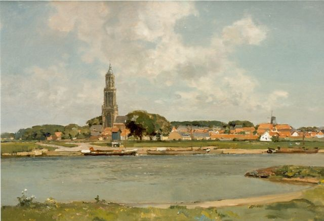 Cornelis Vreedenburgh | View of Rhenen, oil on canvas, 60.0 x 89.8 cm, signed l.l. and dated 1937
