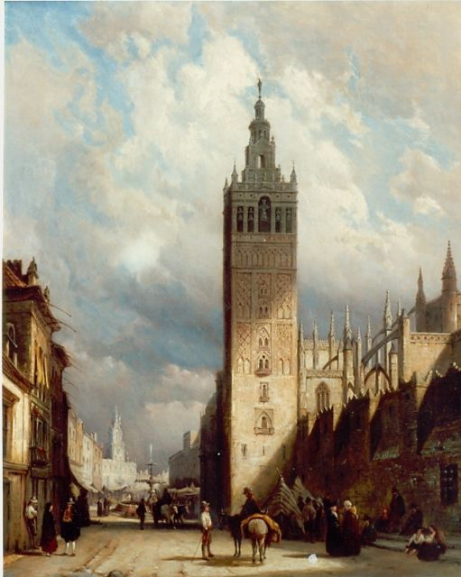 Pieter Cornelis Dommershuijzen | The Cathedral of Sevilla, oil on canvas, 80.8 x 66.5 cm, signed l.r. and dated 1877