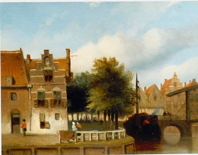 Jan Gerard Smits | Townscape, oil on panel, 14.0 x 18.5 cm, signed l.l.