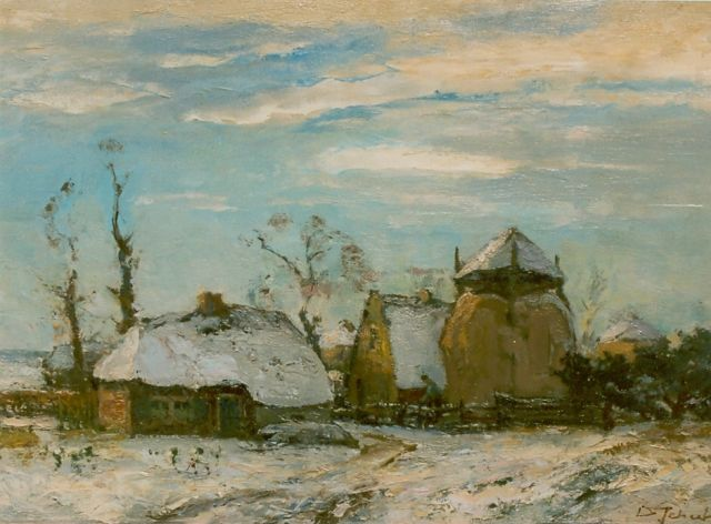David Schulman | A snow-covered landscape, Laren, oil on canvas, 44.0 x 63.0 cm, signed l.r.