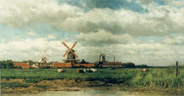 Roelofs W.  | Polder landscape, oil on panel, 35.5 x 68.5 cm, signed l.r.