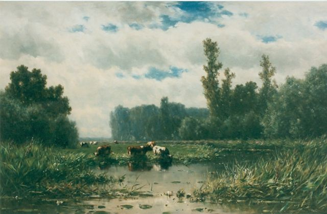Roelofs W.  | The river 'Gein', oil on canvas, 110.0 x 175.0 cm, signed l.r.