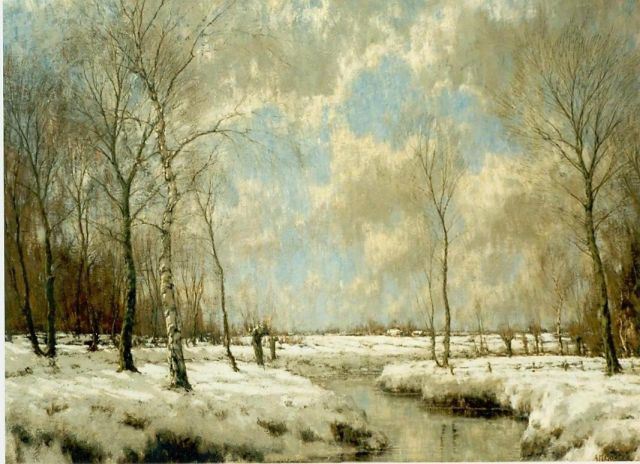 Arnold Marc Gorter | A snow-covered landscape, oil on canvas, 115.0 x 155.0 cm, signed l.r.