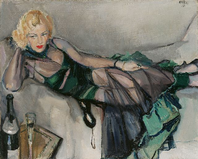 George Martens | After the bal masqué (Ms. Greet van Veen), oil on canvas, 64.8 x 80.2 cm, signed u.r. and dated '37