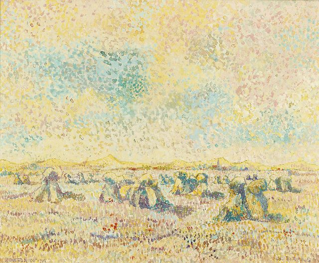Ferdinand Hart Nibbrig | Harvest time in the dunes of Zoutelande, watercolour on paper, 45.5 x 55.0 cm, signed l.r. and dated 'Zoutelande 1910'
