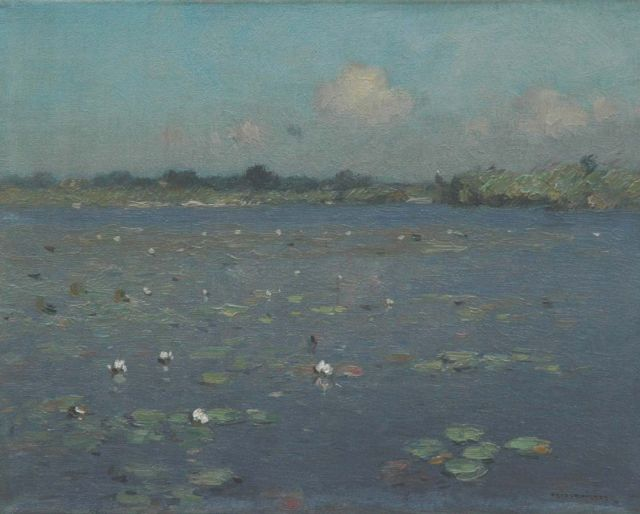 Aris Knikker | Water lilies, oil on canvas, 24.4 x 30.4 cm, signed l.r.
