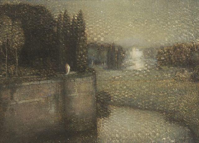 Jan Bogaerts | The city wall of 's-Hertogenbosch, oil on canvas, 50.2 x 70.3 cm, signed l.l. and dated 1925