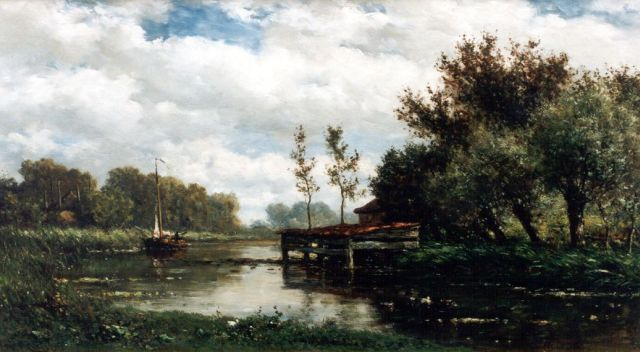 Roelofs W.  | A polder landscape, oil on panel, 28.0 x 50.4 cm, signed l.l.