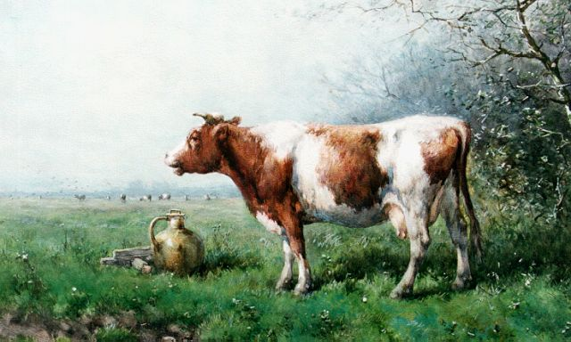 Jan Vrolijk | Milking time, watercolour on paper, 54.7 x 76.1 cm, signed l.r. and dated '86