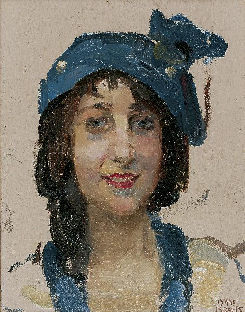 Israels I.L.  | Smiling young woman, oil on panel, 27.0 x 21.3 cm, signed l.r.